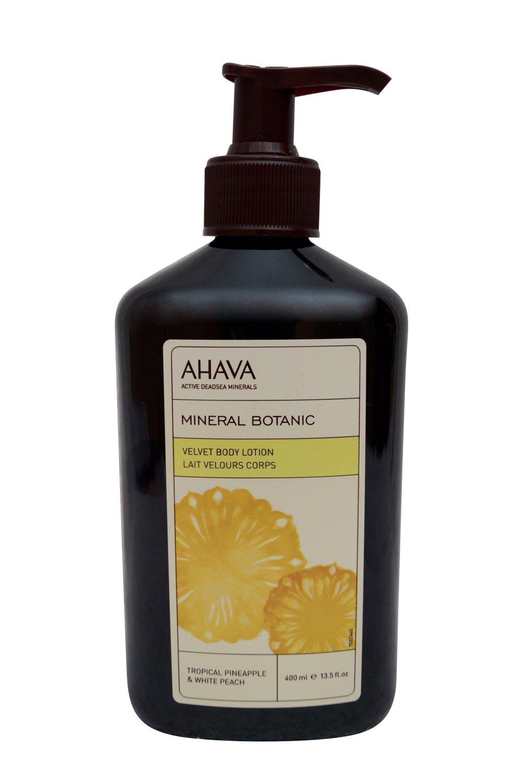 AHAVA Mineral Botanic Velvet Body Lotion, Tropical Pineapple 13.5 oz.
