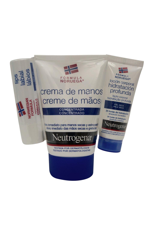 Neutrogena Concentrated Hand Cream & Lip Balm Set Free Gift  (SPANISH LABEL)