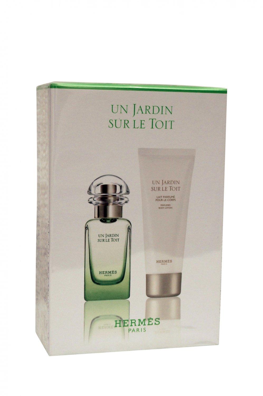 Hermes Un Jardin Sur Le Toit 2 Piece Gift Set 1.6 EDT Spray, 2.5oz Body Lotion)