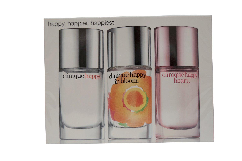 Clinique Happy Perfume Spray Trio Set, Happy,Happy in Bloom, Happy Heart