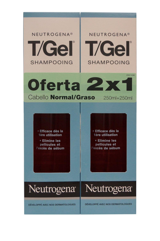 Neutrogena T/Gel Dandruff Shampoo Norm-Oily 250ml (SPANISH LABEL) 2 x 8.5 oz