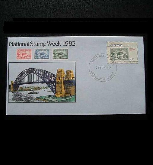 AUSTRALIA NATIONAL STAMP WEEK FIRST DAY COVER 1982