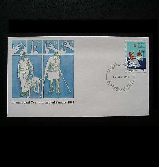 AUSTRALIA INTERNATIONAL YEAR OF DISABLED PERSONS FIRST DAY COVER 1981