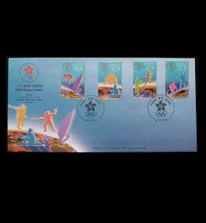 HONG KONG SYDNEY OLYMPICS STAMPS FIRST DAY COVER 2000