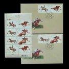 UKRAINE HORSES IN SPORT STAMPS 2006