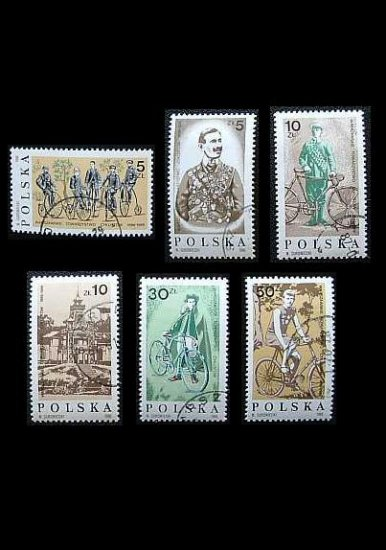POLAND 100th ANNIVERSARY OF THE WARSAW CYCLING SOCIETY STAMPS 1986
