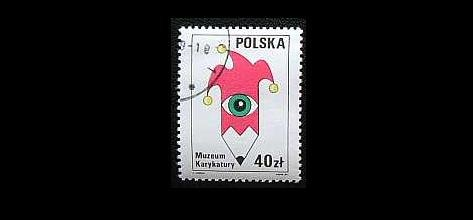 POLAND CARICATURE MUSEUM IN WARSAW STAMP 1989