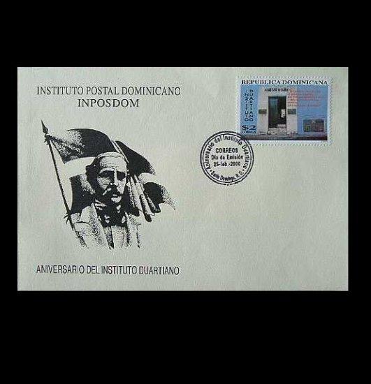 DOMINICAN REPUBLIC DUARTE INSTITUTE STAMP FIRST DAY COVER 2000