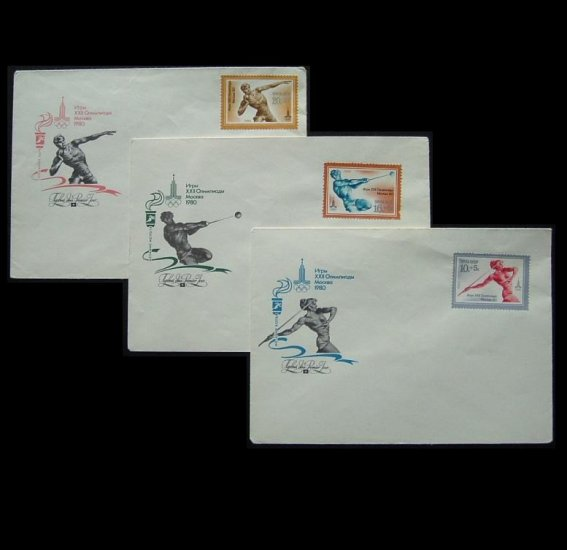 RUSSIA MOSCOW OLMYPICS 1980 STAMPS AND ENVELOPES