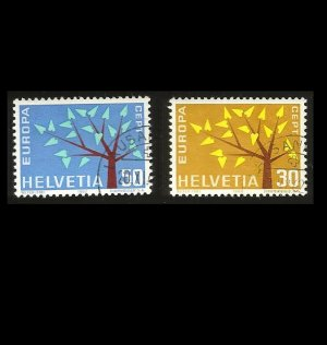 EUROPA CEPT STAMPS SWITZERLAND HELVETIA 1962