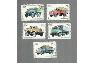 RUSSIA SOVIET UNION CCCP AUTO INDUSTRY COMMERCIAL TRUCK STAMPS 1986