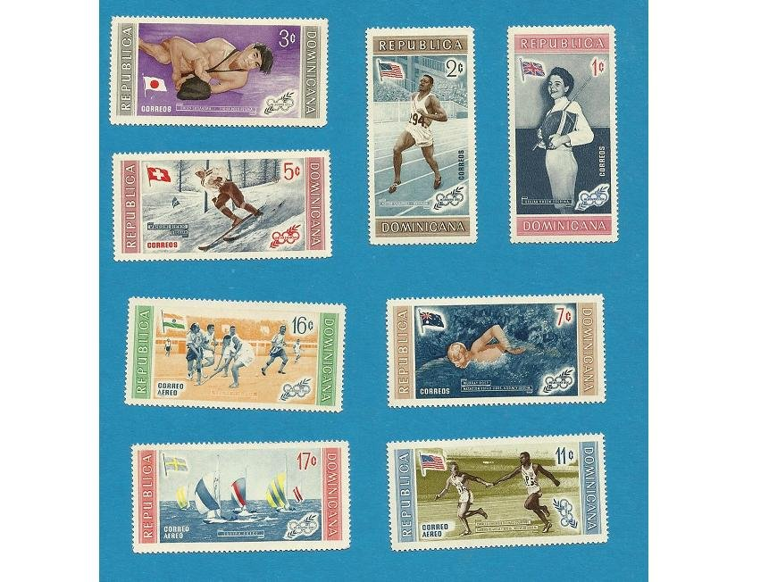 DOMINICAN REPUBLIC OLYMPIC GAMES STAMPS 1958