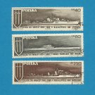 POLAND POLISH NAVY WARSHIP STAMPS 1970