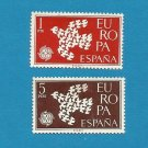 EUROPA CEPT STAMPS SPAIN DOVE OF PEACE 1961
