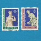 EUROPA CEPT STAMPS ITALY SCULPTURES 1974