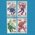 CZECHOSLOVAKIA SAPPORO WINTER OLYMPIC STAMPS 1972