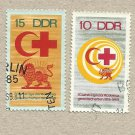 EAST GERMANY DDR RED CROSS RED CRESCENT STAMPS 1969