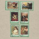 CUBA PAINTINGS BY MASTERS STAMPS 1974