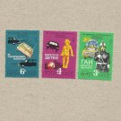 RUSSIA CCCP SOVIET ROAD SAFETY STAMPS 1979