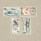 CZECHOSLOVAKIA  SET OF FOUR SPORT STAMPS 1967