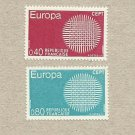 EUROPA CEPT STAMPS FRANCE SUN OF INTERWOVEN FIBRES 1970