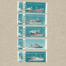 RUSSIA SOVIET UNION CCCP FISHING FLEET STAMPS 1967