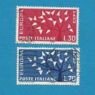 EUROPA CEPT STAMPS ITALY 1962 LEAVES DESIGN