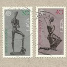 EUROPA CEPT STAMPS GERMANY SCULPTURES 1974