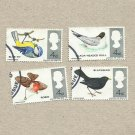 UNITED KINGDOM BRITISH NATIVE BIRD STAMPS 1966