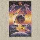 RUSSIA INTERNATIONAL SPACE YEAR STAMP BLOCK 1992