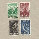 POLAND POLISH WORKERS SET OF FOUR STAMPS STAMPS 1947