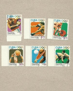 CUBA LOS ANGELES OLYMPICS STAMPS 1984