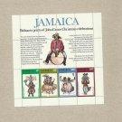 JAMAICA JOHN CANOE PRINTS STAMP PAGE 1975 UNUSED MNH