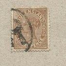 AUSTRALIA QUEENSLAND COLONY 1890  VICTORIAN THREE PENCE STAMP
