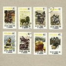 POLAND SET SIERAKOW HORSE RIDING STAMPS 1980