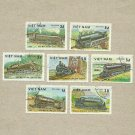 VIETNAM TRAINS AND RAILWAYS STAMPS 1983