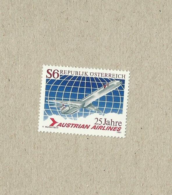 AUSTRIA AUSTRIAN AIRLINES STAMP 1983