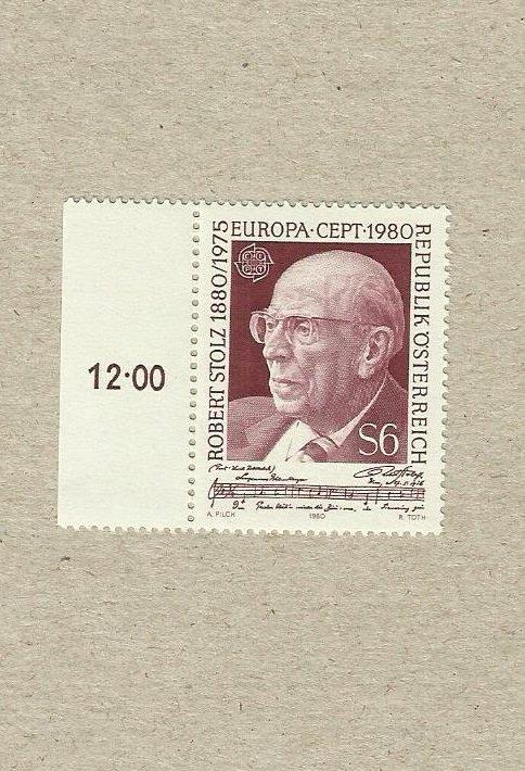 AUSTRIA EUROPA CEPT STAMP ROBERT STOLZ 1980