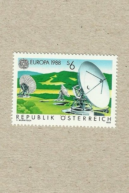 AUSTRIA EUROPA CEPT STAMP TRANSPORTATION AND COMMUNICATIONS 1988