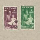 NEW ZEALAND HEALTH ISSUE STAMPS QUEEN ELIZABETH PRINCE CHARLES 1950
