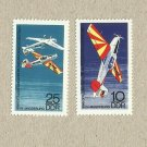 EAST GERMANY DDR AVIATION STUNT AIRCRAFT DISPLAY STAMPS 1968