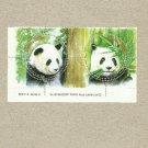 THAILAND PANDA TWO ROUND PANDA STAMPS 2005