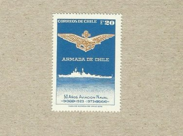 CHILE NAVY AND AIRFORCE STAMP 1973