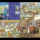 UKRAINE SET OF FOUR KIEV THROUGH THE EYES OF ARTISTS MAXIMUM POST CARDS 2007