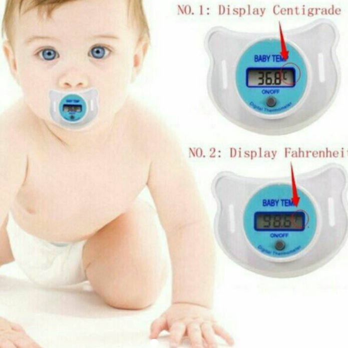 Baby Pacifier with Thermometer