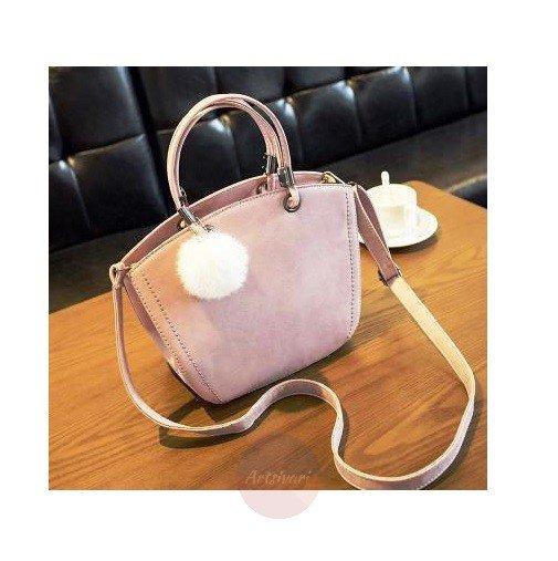 Artsivaris Vintage Women Suede Leather Messenger Casual Winter Shoulder Bag