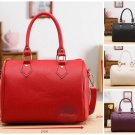 Stylish Women Tote Leather Barrel Handbag Casual Messenger Travel Shopper Bag