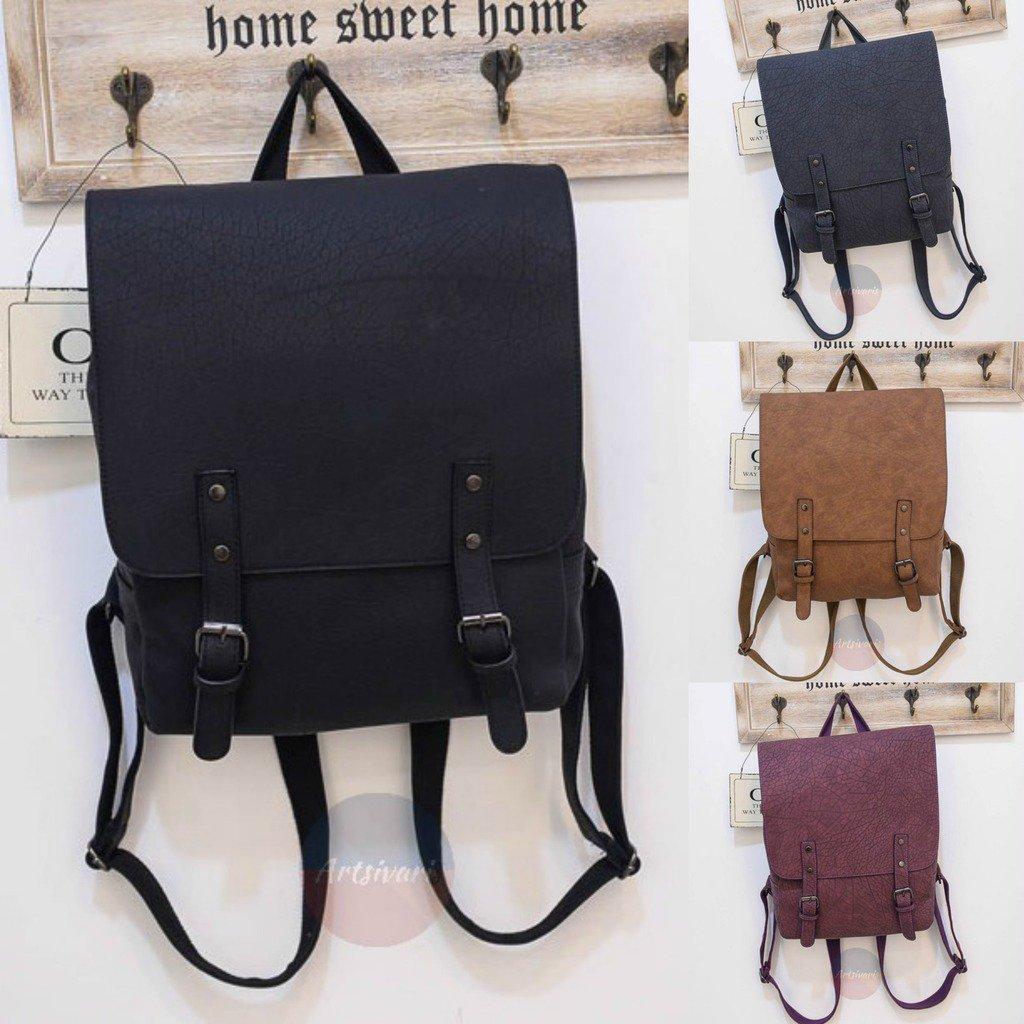 Stylish Women Genuine Leather Backpack School College Travel Handbag Vintage Bag