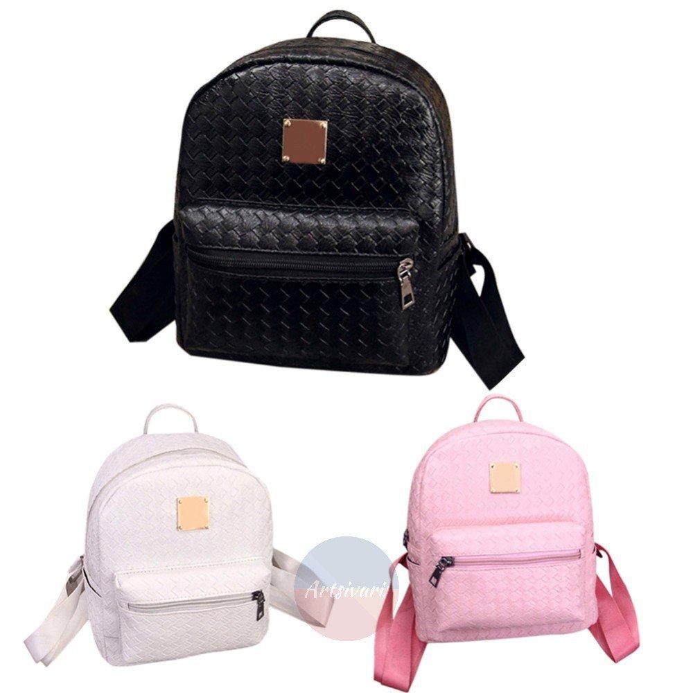 Artsivaris NEW Women Leather Small Backpack Travel School College Satchel Bag