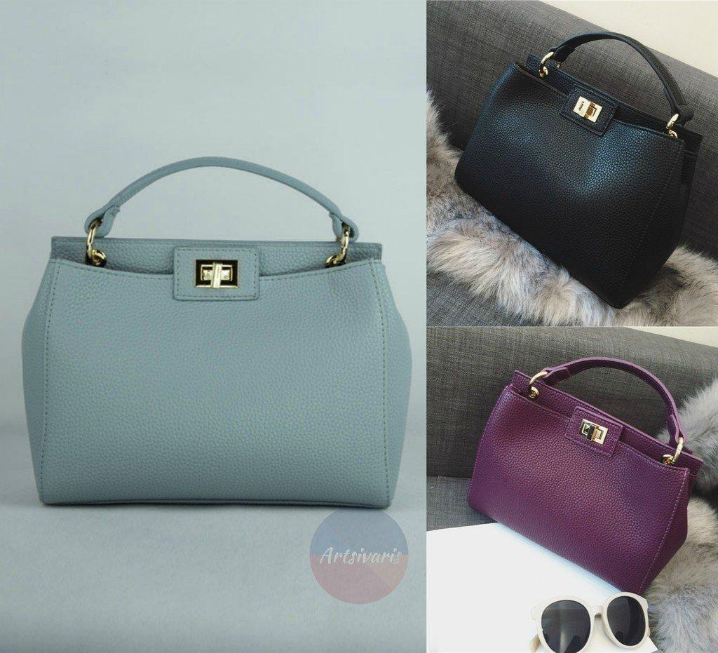 Stylish Leather Women Casual Handbag Travel Medium Black Satchel Messenger Bag
